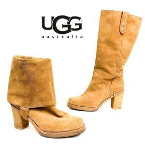 UGG Josie Suede Knee High Boots in Chestnut - 5